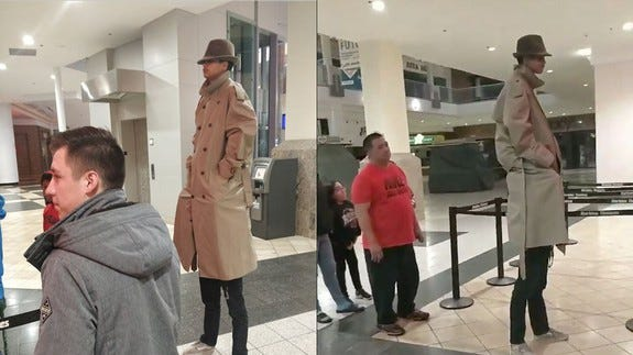 Is this real-life trenchcoat trick brilliant or dangerous?