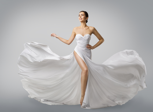 Who would you get an evening dress designed by?