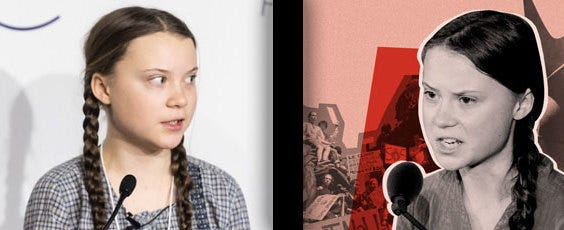 Is Greta Thunberg a reliable source in the climate change debate?
