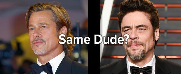 Are Brad Pitt and Benicio Del Toro really the same person?