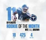 Rookie of the Month AJ Brown (Offensive)