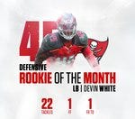 Rookie of the Month Devin White (Defensive)