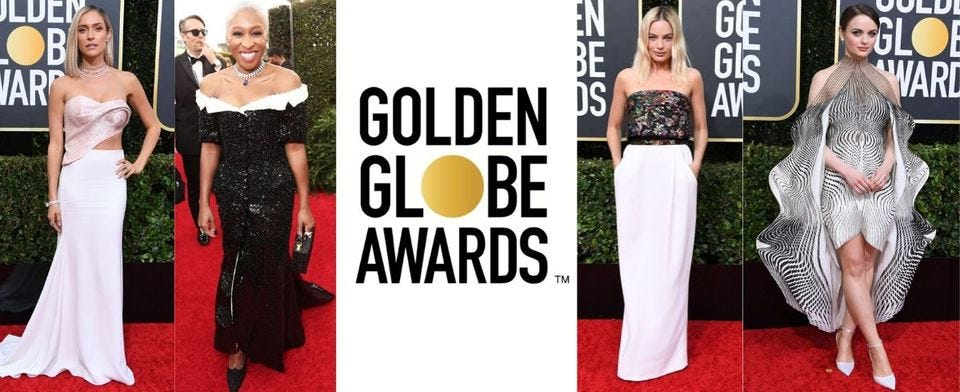 Who's outfit was the best at the Golden Globes