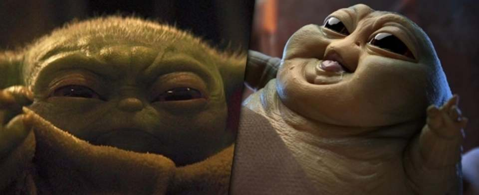 Yoda or Jabba: Which baby version is cuter?
