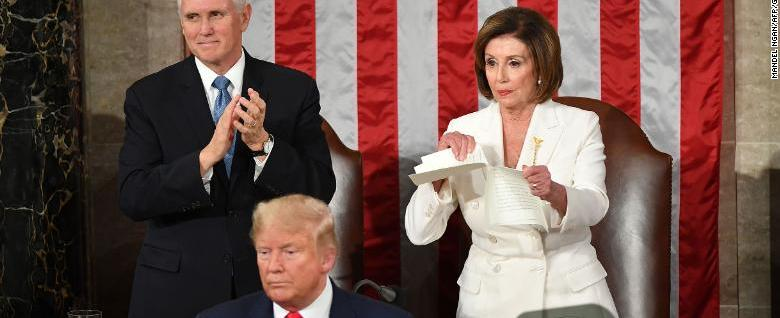 Did you approve of Pelosi ripping Trump's speech?