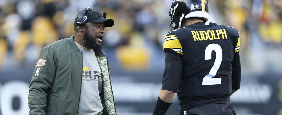 Is Mike Tomlin playing defense attorney for Mason Rudolph?