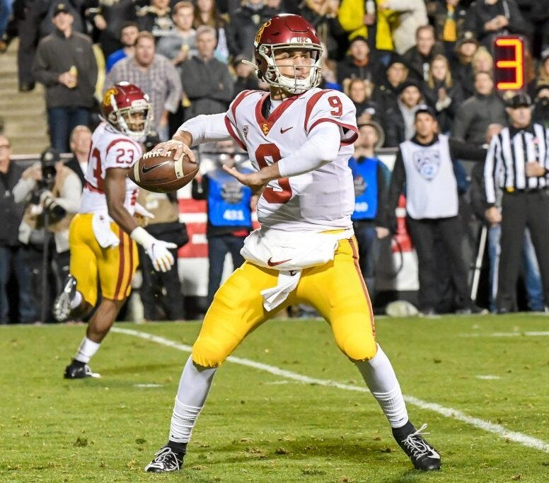 Will Kedon Slovis own the one-year record for TDs as a Trojan?