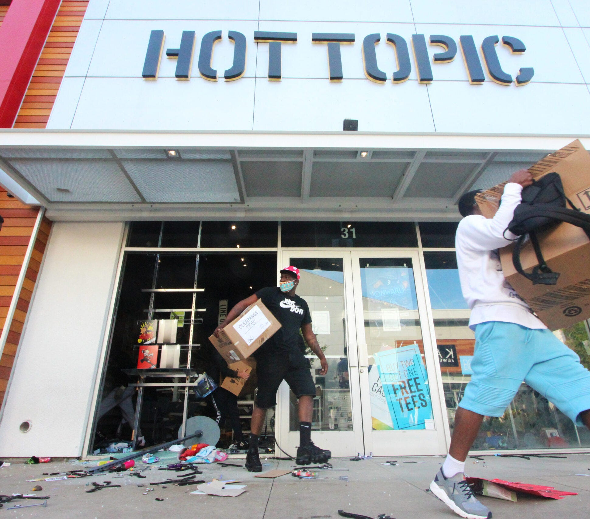 Is looting necessary to spark change during protests?