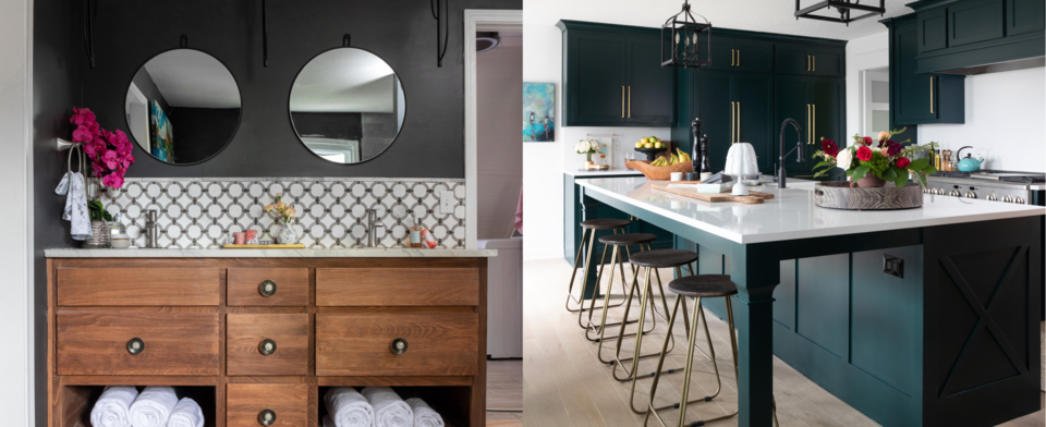 Which is more timeless for cabinets, wood grain or painted?