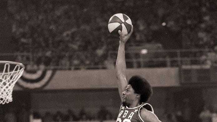 Do you think Julius Erving was the one that invented the above the rim game?