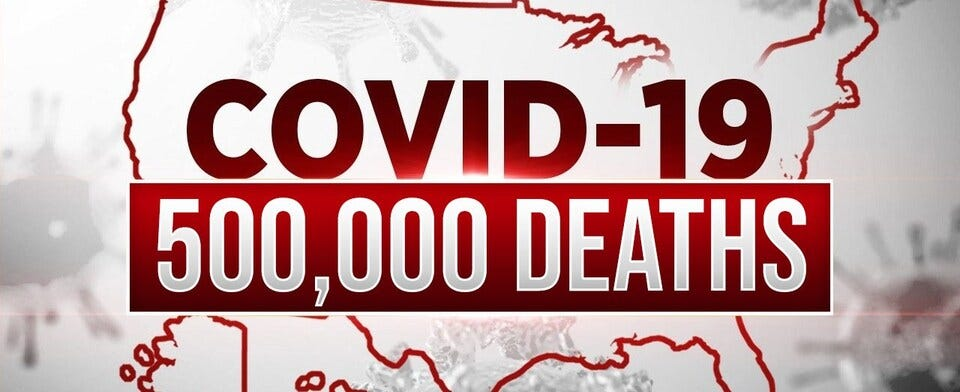 Are you shocked the U.S. reached 500K coronavirus deaths in a year?