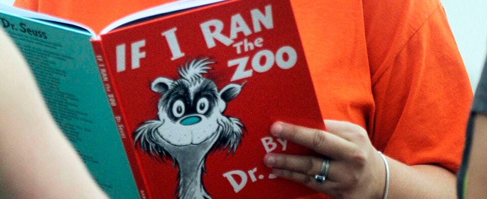 "Some schools are de-emphasizing Dr. Seuss books because of ""racial overtones."" Do you agree?"