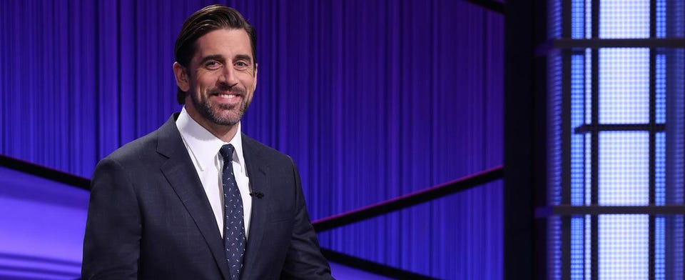 Would you like to see Aaron Rodgers as the next full-time host for Jeopardy?