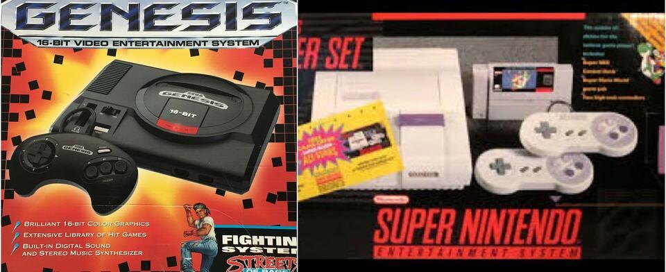 The ultimate never resolved 90s schoolyard question: Sega Genesis or Super Nintendo?