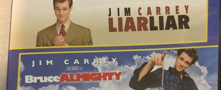 Which is the funniest of Jim Carrey's supernatural morality play films?