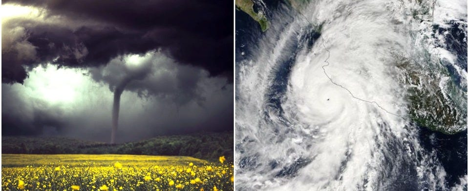What kind of severe weather do you find more terrifying?