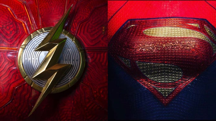 Two costume teases for new The Flash movie. Which one has you most hyped?!?