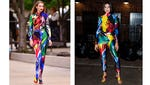 Who wore this wild Versace catsuit better?