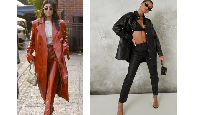 Which leather outfit is more stylish?