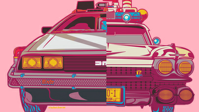 What is the more iconic movie car? The Ecto 1 or the time machine DeLorean?