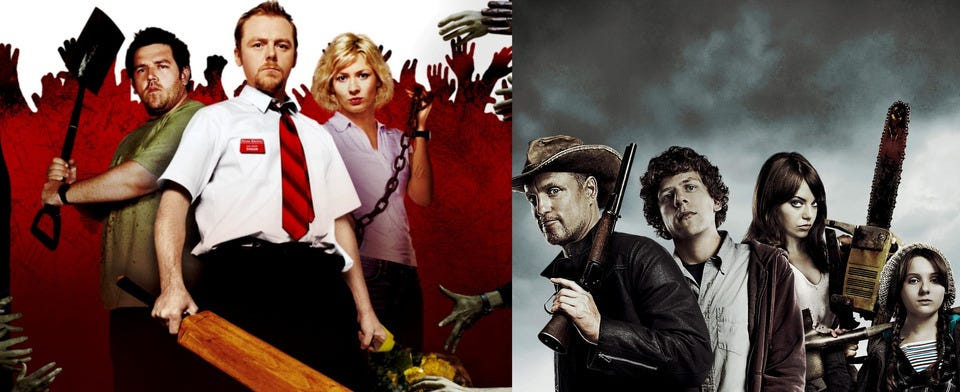 Better zombie comedy, Shaun of the Dead or Zombieland?